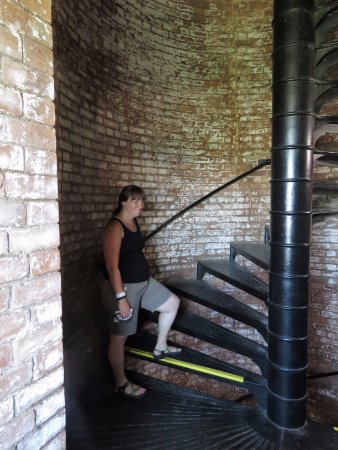 Tybee Island Lighthouse Museum: My pregnant daughter-in-law braved the climb and did very well with rests at the landings