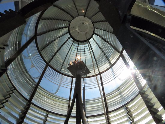 Tybee Island Lighthouse Museum: The inside of the very top of the lighthouse. Very cool!