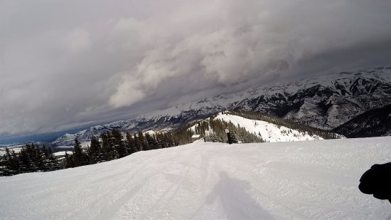 Telluride, CO: Approaching Alpino Vino on See Forever