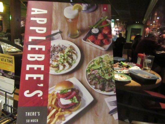 Menu, Applebee's, Milpitas, Ca