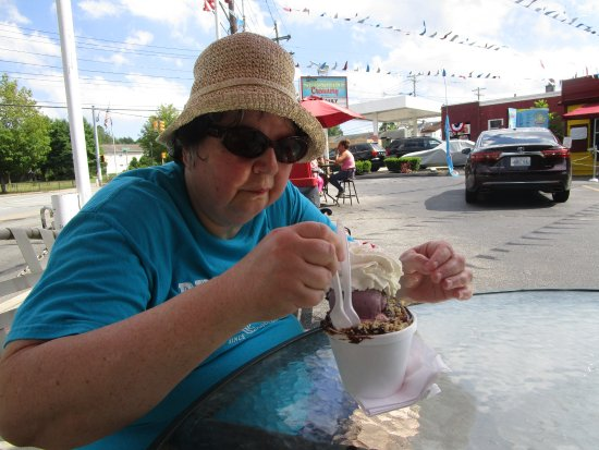 Rumford, RI: That is me eating our ice cream sundae.