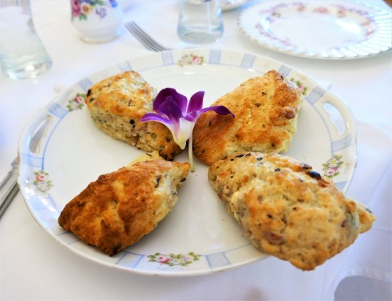 "Freeport, ME: Yummy scones served at ""cream tea"""