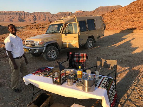 Sesriem, Namibia: Sundowners were a real feature