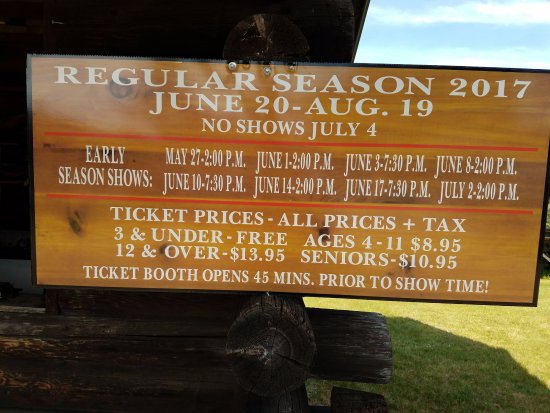 Woodruff, WI: Lumberjack Show Pricing