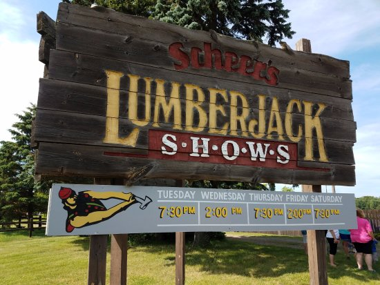 Woodruff, WI: Lumberjack Showtimes