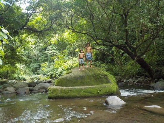 Rincon de La Vieja, Costa Rica: en el rio
