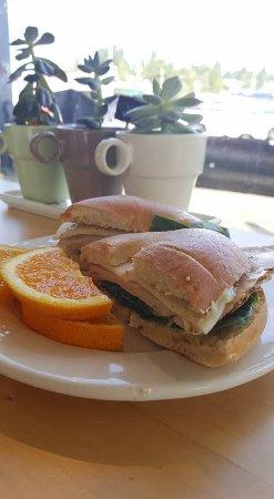 South Bend, WA: Breakfast sandwich