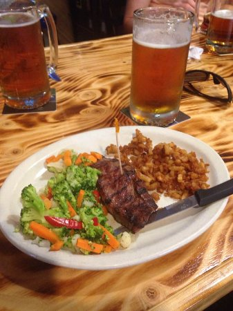 Fort Dodge, IA: Steak special with veggies and hashbrowns