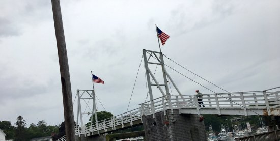 """Perkins Cove: The """"famous"""" foot bridge, or whatever it's called. Super exciting"""