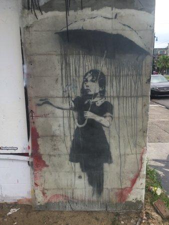 Banksy's Rain Girl