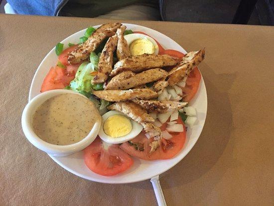 Baker, NV: chicken Caesar salad