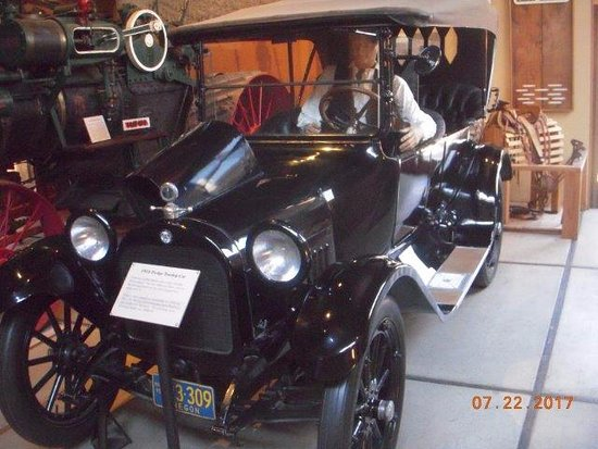 Douglas County Museum of History & Natural History: This 1916 Dodge is on display.