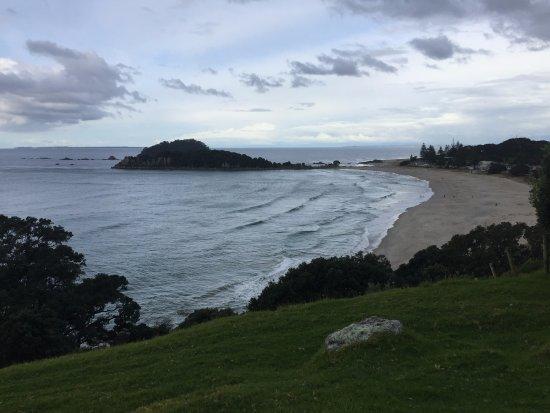 Mount Maunganui, Nueva Zelanda: view from the hike up