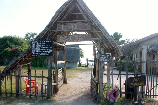 "Kipepeo Beach Village: Entrance of the ""Village"""