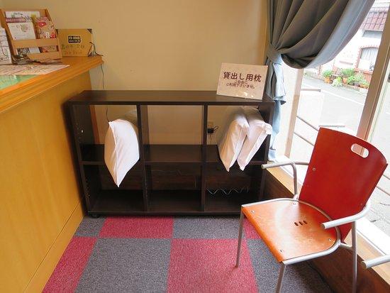 Hotel Select Inn Shimada Ekimae: 貸し枕コーナー