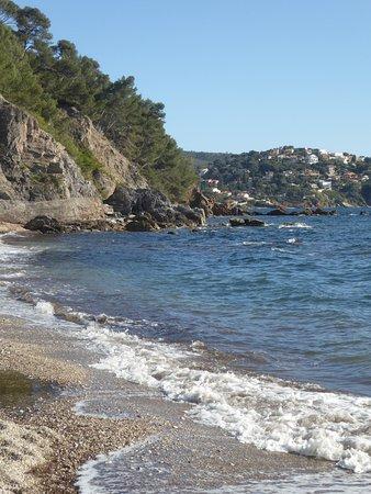 Le Pradet, Frankrijk: l'anse entre les deux plages