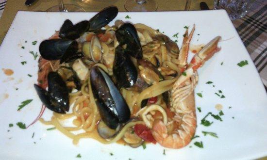 Osteria della Vite: Pastas fruits de mer