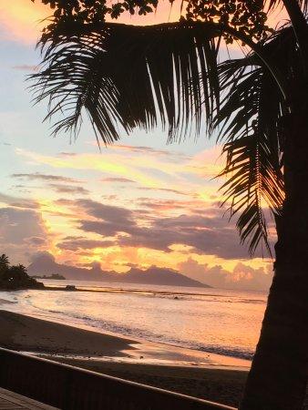 Arue, French Polynesia: Sunset over Black Sand Beach