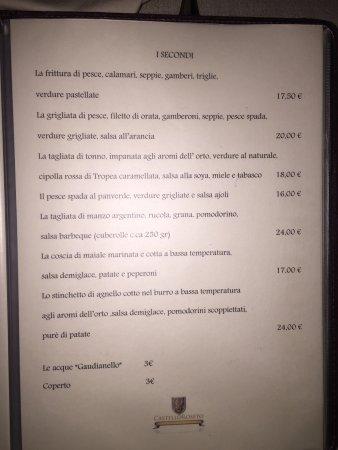 Roseto Capo Spulico, Italië: Menù