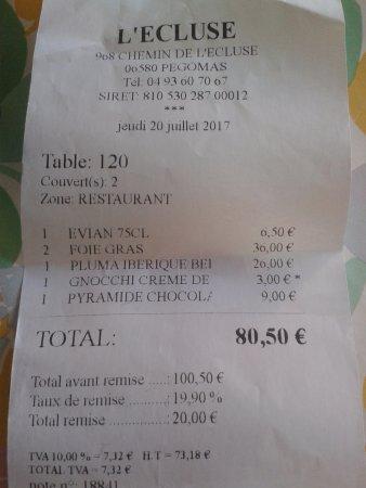 Pegomas, Frankrijk: Note