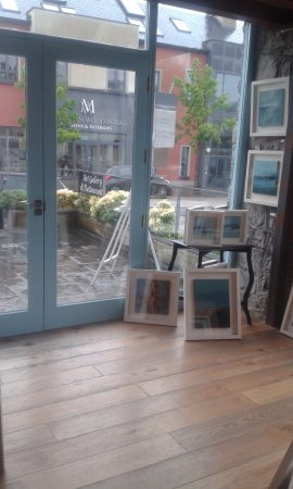 Moycullen, Ireland: View from inside the gallery