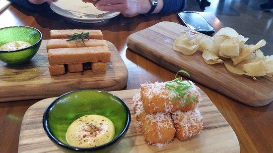 "Coldstream, Australia: My friend & I shared 3 ""small plates"" (already eaten the ""sliders""/burgers"")"