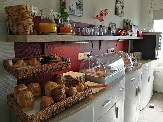 Dahme, Tyskland: Frühstücksbuffet