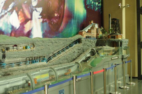 Weifang, China: A model of the mine in the museum.