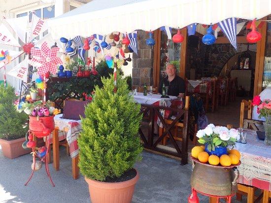 Lasithi Prefecture, Hellas: La facade du Restaurant