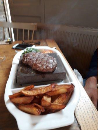 Hot rock steak