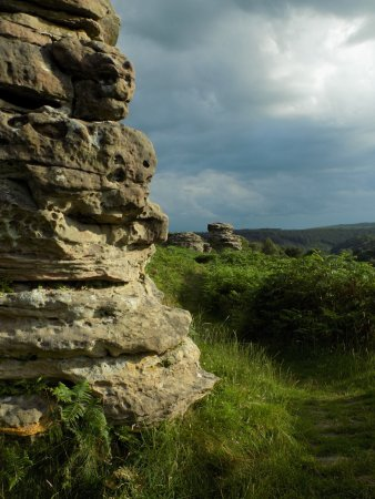 Pickering, UK: The Bridestones above Staindale in the North Yorkshire Moors