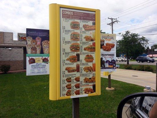 Palatine, IL: first menu board