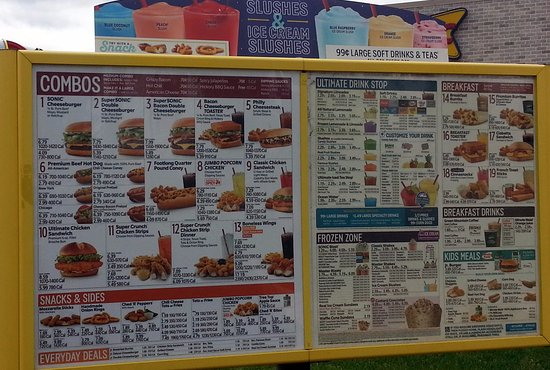 Palatine, IL: second menu board with a lot of options