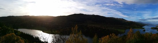 Pitlochry, UK: Panorama of the view