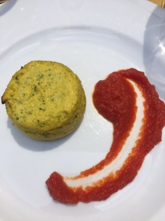 Bra, Italy: Zuccini mousse/timbal + tomatoes