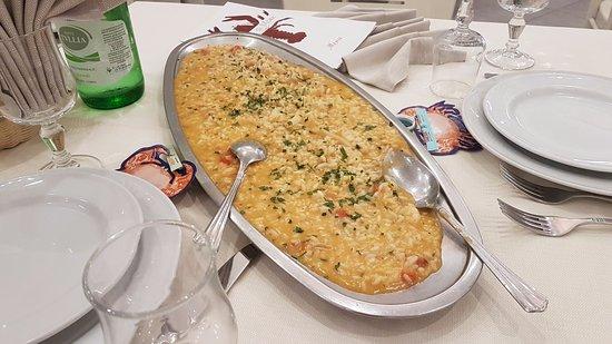 Falconara Marittima, Italy: Risotto ai frutti di mare per 2 persone ....