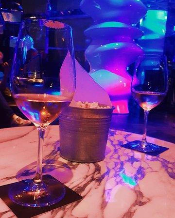 Fancy bar with the fancy drinks.