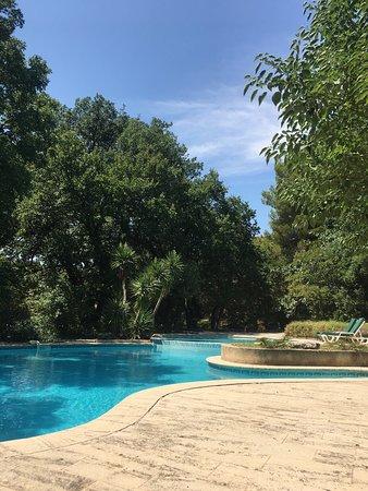 Mazan, France: Prachtig zwembad meet veel schaduwrijke plekjes maar ook veel zon! Ideaal!