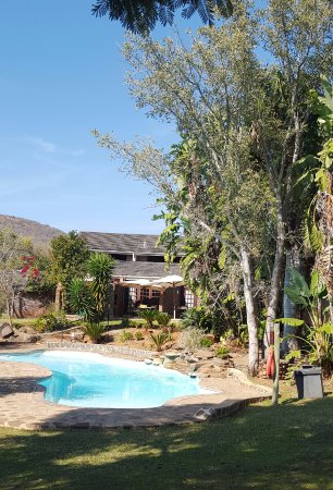 Lydenburg, Sydafrika: Relaxing pool area