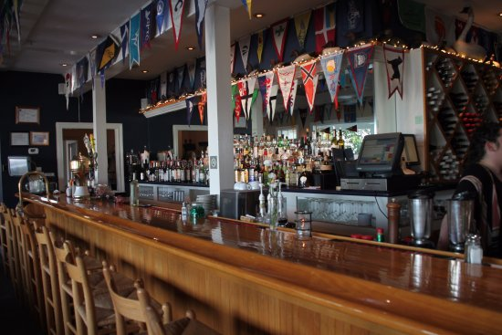 Solomons, MD: The Bar With Burgees (little triangular flags) From Other Clubs