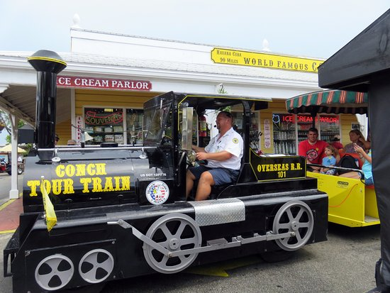 """the """"locomotive"""" for the Conch Tour Train"""