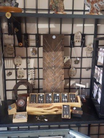 Philipsburg, MT: Bullet jewelry display - fun stuff!