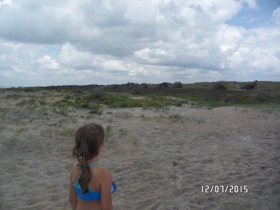 Swansboro, Carolina del Norte: crossing over the dunes