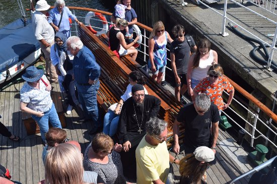 Bowness-on-Windermere, UK: The Popa (orthodox-father) was on board