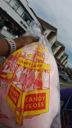 Canvey Island, UK: candy floss