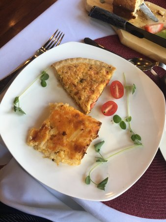 Edenton, NC: Hash brown casserole with quiche!