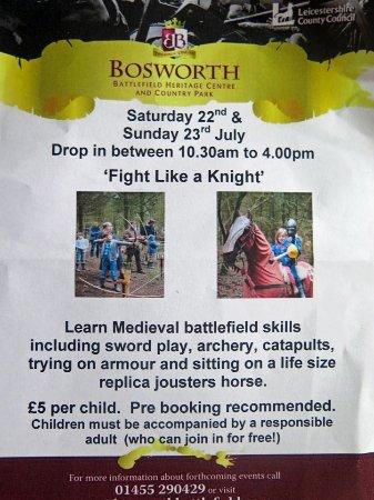 "Sutton Cheney, UK: ""Fight like a knight"" children's activity day"