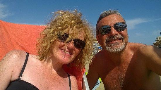 Hotel Biagi: Selfie in spiaggia, al Bagno Italiano, proprio di fronte all'Hotel