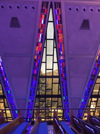 United States Air Force Academy: Through the chapel windows