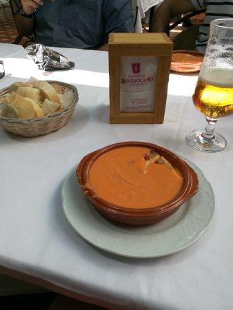 Restaurante Casa Palacio Bandolero: salmorejo